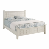 Arts and Crafts Queen Size Bed in White - Home Styles - 5182-500
