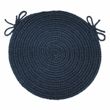 Rio Navy 15 Braided Chair Pad - Rhody Rug - RI-1715CPNV