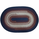 Rio Navy 2'x4' Braided Rug - Rhody Rug - RI-1724NV