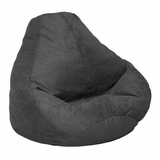 Bean Bag Chair Adult in Onyx Soft Suede LUXE - 30-1041-467