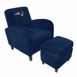 NFL Patriots Den Chair with Ottoman - Imperial International - 126622