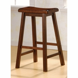 29 Inch Bar Stool (Set of 2) in Dark Walnut - Coaster
