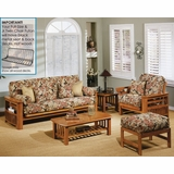 Futon Furniture Set in Honey Oak - Portofino - FSET-12