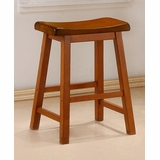 24 Inch Bar Stool (Set of 2) in Oak - Coaster