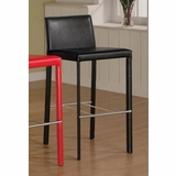 29 Inch Bar Stool (Set of 2) in Black - Coaster - COAST-1100330BLK1-SET