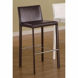 29 Inch Bar Stool (Set of 2) in Chocolate - Coaster