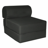 Foam Furniture Kids Studio Chair Sleeper Jr. Twin 24 in Black - 32-4300-601