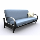 Futon Frame - Full Size Evolution Futon in Black Metal - 35-4914-050