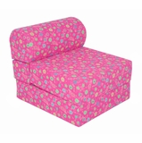 Foam Furniture Kids Studio Chair Sleeper Jr. Twin 24 in Pink Flower - 32-4300-824