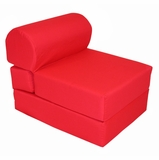 Foam Furniture Kids Studio Chair Sleeper Jr. Twin 24 in Red - 32-4300-608