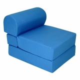Foam Furniture Kids Studio Chair Sleeper Jr. Twin 24 in Royal Blue - 32-4300-607