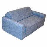 Foam Furniture Kids Sofa Sleeper Twin 38 in Distressed Denim - 32-4200-636