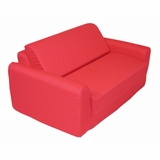 Foam Furniture Kids Sofa Sleeper Twin 38 in Red - 32-4200-608