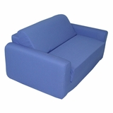 Foam Furniture Kids Sofa Sleeper Twin 38 in Royal Blue - 32-4200-607