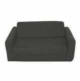 Foam Furniture Kids Sofa Sleeper Twin 38 in Black - 32-4200-601