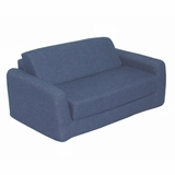 Foam Furniture Kids Sofa Sleeper Twin 38 in Indigo Denim - 32-4200-599