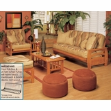 Futon Furniture Set in Honey Oak - Montego - FSET-14