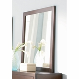 Mirror - Lorretta Mirror in Deep Brown - Coaster - 201514