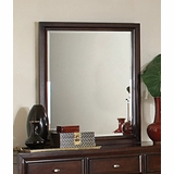 Mirror - Nadine Mirror in Dark Mahogany - Coaster - 201334