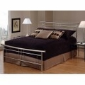 Iron Bed / Metal Bed - Soho Bed in Brushed Nickel - Hillsdale Furniture