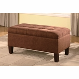 Ottoman in Chocolate Microfiber - Coaster