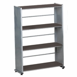 4-Shelves Organizational Unit in Anthracite/Metallic Gray - Mayline Office Furniture - 994ANT