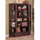 Bookcase with 2 Corner Bookshelves in Cappuccino - Coaster