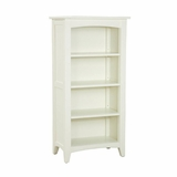 Tall Bookcase in Ivory - Shaker Cottage - Alaterre - ASCA08IV