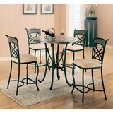 Ardith 5-Piece Counter Height Table Set - Coaster - 120668-9-DSET
