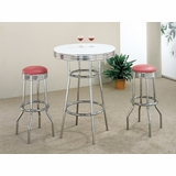 3-Piece Bar Table and Stool Set - Coaster - COAST-123001-DSET-2