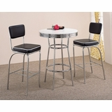 3-Piece Bar Table and Stool Set - Coaster - COAST-123001-DSET-1
