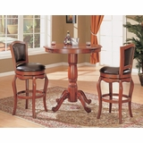 3-Piece Bar Table and Stool Set in Cherry - Coaster