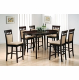 Counter Height Table and Stool Set 1 in Rich Cappuccino - Coaster