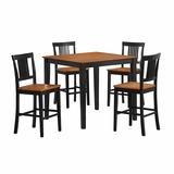 5-Piece Beaumont Wood Pub Table Set in Natural Wood / Two-Toned Black - TW40PBNB