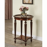Accent Table with Reeded Legs and Veneer Top with Wood Gallery - Masterpiece - Powell Furniture - 912-269
