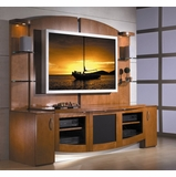 Flat Panel / Flat Screen TV Stand with Back Panel - Jazzy - JSP Furniture - J-30-P