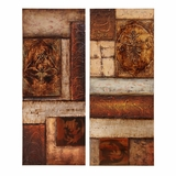 Wall Art - Oil on Stretched Canvas (Set of 2) - Style Craft - FP8659-DS