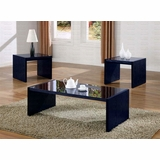 3-Piece Table Set in Black - Coaster