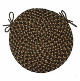 Pilgrim Brown 15 Braided Chair Pad - Rhody Rug - PG-3315CPBR
