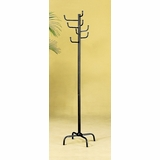 Coat Rack with Eight Hooks in Black - Coaster