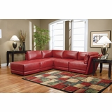 Leather Sectional Sofa Set - 5 Piece in Red Leather - Coaster