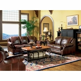 Leather Sofa Set - 3 Piece - Coaster