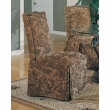 Parson Chair (Set of 2) in Green Floral - Coaster