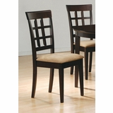Side Chair with Wheat Back Design (Set of 2) in Rich Cappuccino - Coaster