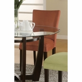 Parson Chair (Set of 2) in Terracotta Microfiber - Coaster
