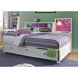 Lea Elite Zoe Full Storage Platform Bed in White - 070-900