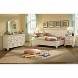 Lea Elite Retreat White Full Bedroom Set with 2 Nightstands - 149-924