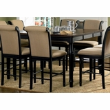 Counter Height Dining Table in Rich Cappuccino - Coaster