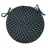 Pilgrim Navy 15 Braided Chair Pad - Rhody Rug - PG-1315CPNA