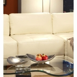 Armless Chair in White Leather - Coaster